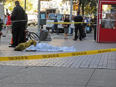 Someone died in a fall at 113 University Place just before noon Monday October 22, 2012.