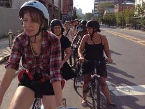 The local group's formation coincides with the beginning of a national bike group for women.