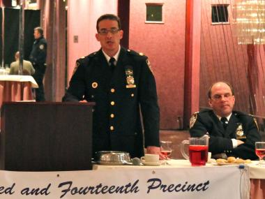 Deputy Inspector Stephen Cirabisi at a recent community council meeting.