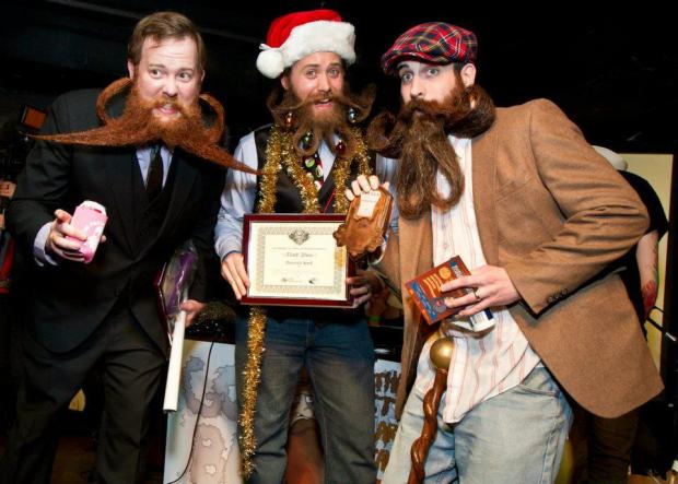 "The 3rd annual competition features categories like ""chops"" and ""beard over one foot."""