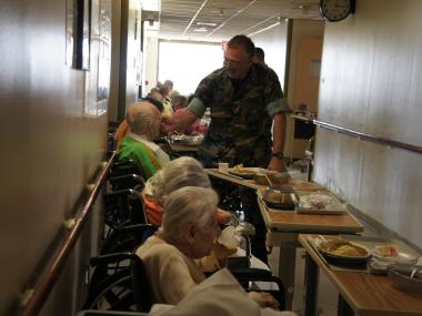 Brookdale Hospital's empty wings got a second life as temporary home for elderly Sandy evacuees.