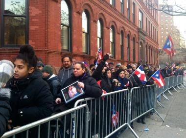 Mourners paid their respects to the late Hector Camacho at Saint Cecilia's Church in Harlem.