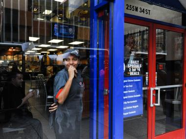 Fast workers strike at various stores, including McDonald's and Burger King, to demand higher wages, Nov. 29, 2012.