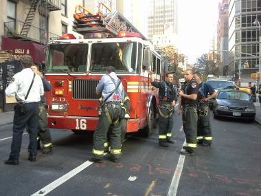 A fire broke out at 245 East 55th Street, Nov. 12, 2012.