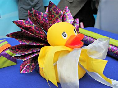 Eight contestants wrapped everything from an oversized rubber duck to an 8-foot model airplane on Nov. 30, 2012.