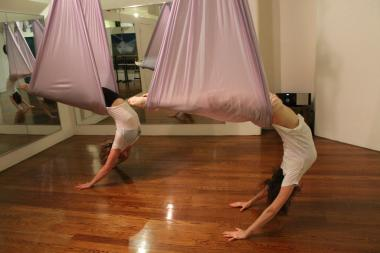"Three master ""AntiGravity Yoga"" trainers are now teaching classes in Chelsea."