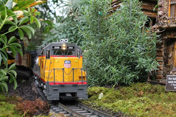 The model train and building replica exhibition runs from November 17 to January 13 at the New York Botanical Garden.