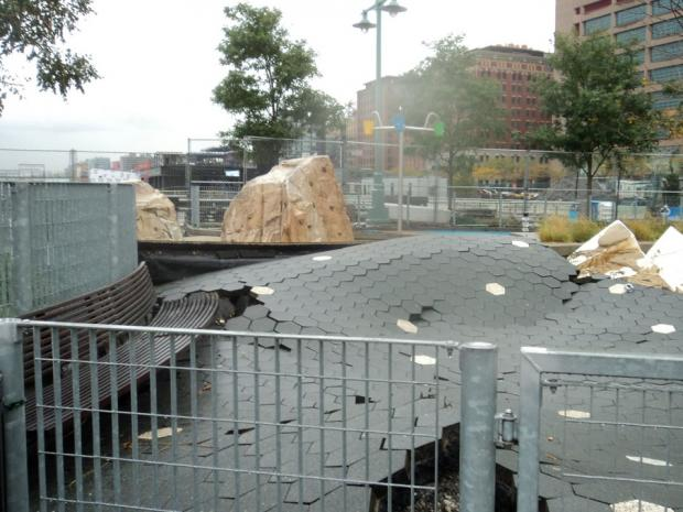 Hurricane Sandy caused an estimated $10 million in damage to Hudson River Park, the president of the Hudson River Park Trust said Nov. 27, 2012.