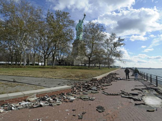 The National Parks Service said Liberty and Ellis islands were too damaged to reopen to the public before 2013.