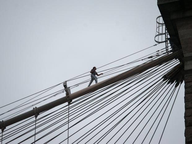 A 19-year-old man leapt to his death from the Brooklyn Bridge on Tuesday November 27, 2012.