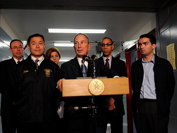 Mayor Michael Bloomberg announced a $500 million plan to repair public schools and hospitals damaged during Hurricane Sandy at PS 207 in Howard Beach, Queens, Nov. 12, 2012