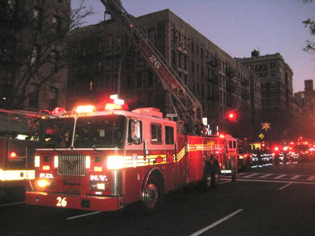 Five apartments were scorched and many more damaged when a fire broke out at 200 W. 109th St. early Thursday November 29, 2012.