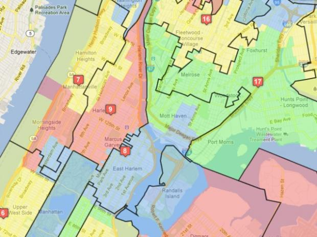 Map Of New York Districts.New City Council District Map Unveiled New York City New York