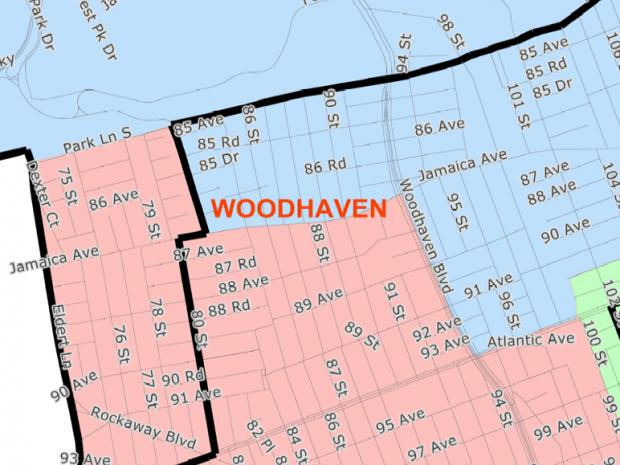 The Woodhaven Residents' Block Assocation argues that the lines cut the neighborhood in pieces.