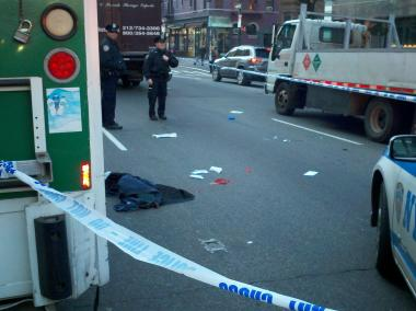 Luis Enriquez, 62, was hit by a large truck near Columbus Avenue and West 73rd Street on Friday December 14, 2012.