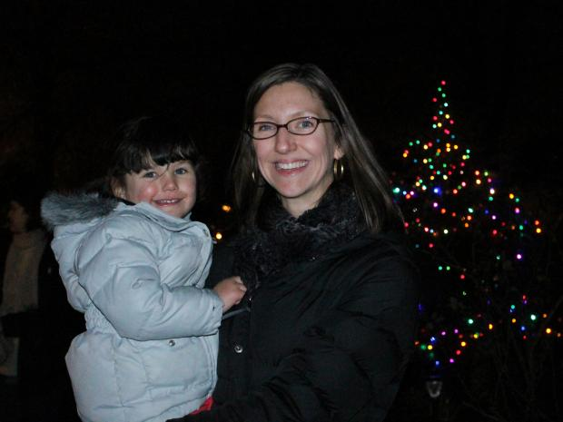 Hundreds of people attended the Bruce's Garden tree lighting ceremony on Dec. 14.