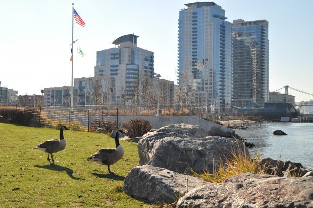 Visitors can venture all the way to the East River at the North 10th Street park.
