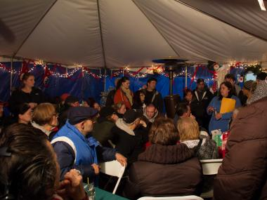 Volunteers in Staten Island said the city will shut down the tents because of the winter weather.