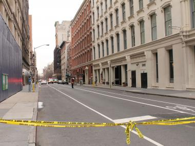 No injuries were reported after the facade of 655 Sixth Ave. crumbled, authorities said.