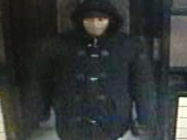 Police are looking for this man in connection with an attempted robbery at 300 Cherry St., the NYPD said.