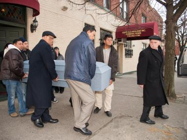 CORONA - Funeral services were held at the Coppola-Migliore Funeral Home for Sunando Sen, who was pushed to his death on a number 7 train platform in Queens.