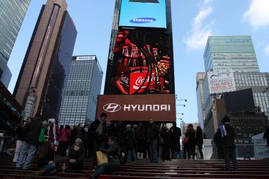 Visitors in Times Square on Dec. 13, 2012.