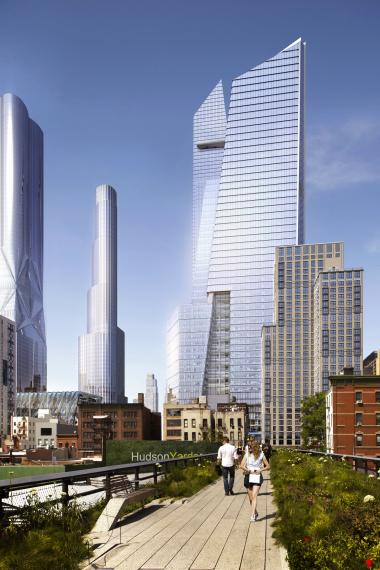 The 47-story tower will eventually be home to luxury bag-maker Coach.