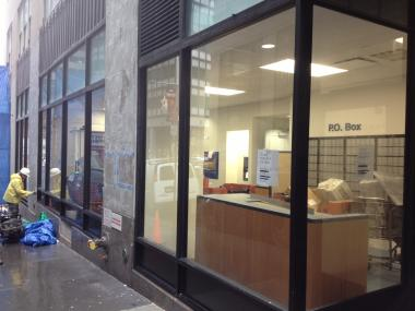 The Post Office at 114 John St. remains closed in the wake of Hurricane Sandy, to the chagrin of many in the neighborhood.