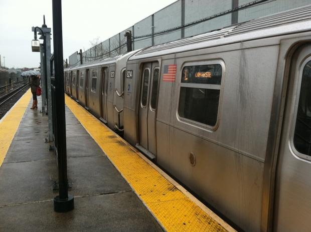 A man was seriously injured after falling into the tracks at the E. 105th Street Station and being struck by an oncoming L train on Friday December 7, 2012.