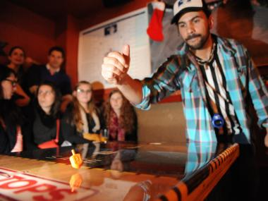 More than 30 competitors spun for glory at Williamsburg's Full Circle Bar.