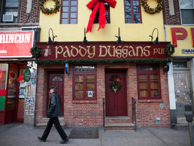 Two men were reportedly stabbed inside Paddy Duggans Pub at 47-14 Greenpoint Ave. in Queens at about 4:30AM. The aided was taken to Elmhurst Hospital.