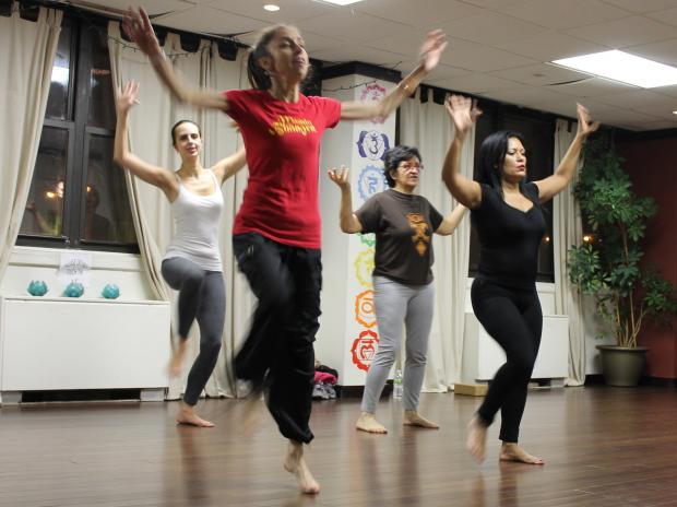 A local yoga studio in Forest Hills introduces Masala Bhangra.