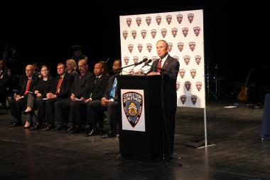 Mayor Michael Bloomberg Speaks at the Department of Corrections Graduation at Lehman College on Dec. 20, 2012.