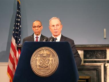 Mayor Michael Bloomberg, with schools chancellor Dennis Wolcott, said a school bus strike at the beginning of Jan. 2013 is a 'strong possibility.'