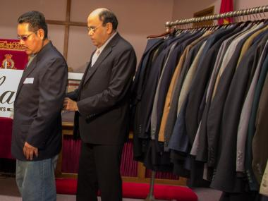 Mohan's Custom Tailors donated suits to Staten Island residents affected by the storm.