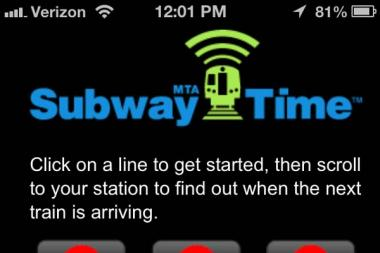 A new MTA app will give commuters real-time subway arrival times, officials said Friday, Dec. 28 2012.