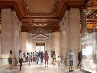 The renovations will add more public space to the Bryant Park branch of the New York Public Library.