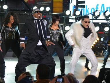 MC Hammer performed in Times Square with Psy during the New Year's Eve festivities on Monday, Dec. 31, 2012.