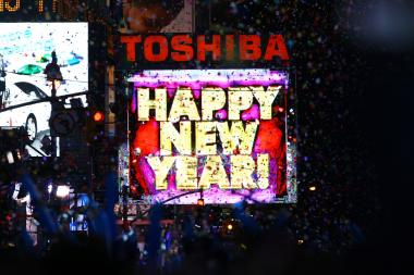 NEW YORK, NY - DECEMBER 31: A general view of atmosphere during New Year's Eve 2012 in Times Square on December 31, 2011 in New York City.