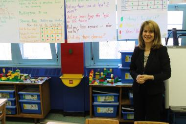 Principal Jane Murphy created an innovative Lego Lab to teach engineering, communication and reading.