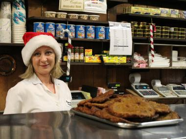 A store in Kew Gardens offers Polish and German treats before Christmas.
