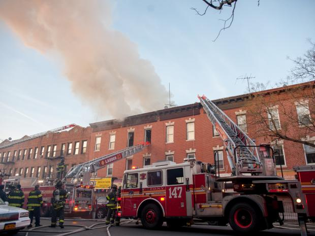 PROSPECT LEFFERTS GARDENS - A Two Alarm fire broke out at 646 Rogers Avenue near Parkside Avenue in Brooklyn. There were several injuries and at least one dog was rescued.