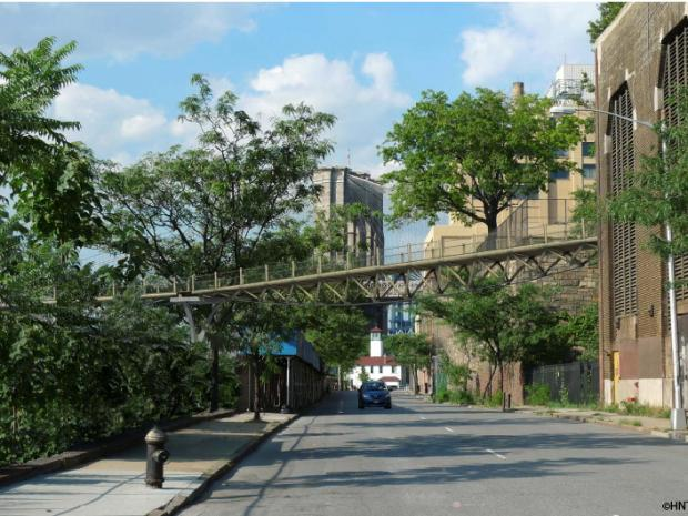 A new pedestrian bridge is planned connecting Squibb Park to the Brooklyn Bridge Park.