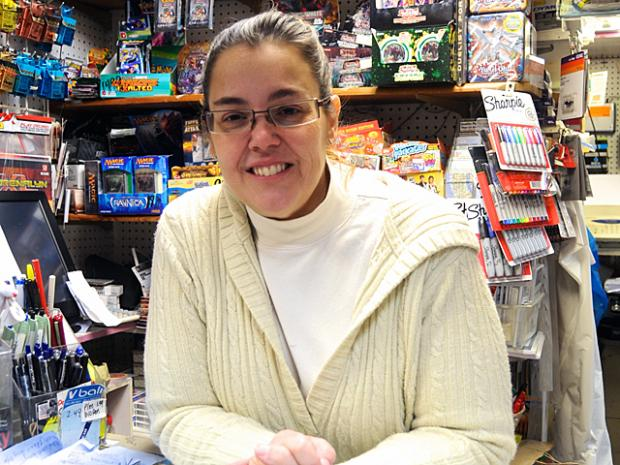 Upper West Side toy store owenr Donna Schofield organized a toy drive to help children on Staten Island impacted by Hurricane Sandy. a