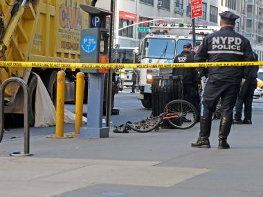 The woman was hit near Park Avenue and East 23rd Street, FDNY officials said.