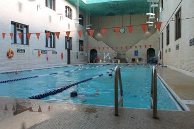 The Metropolitan Pool and Recreation Center offers inexpensive swimming.