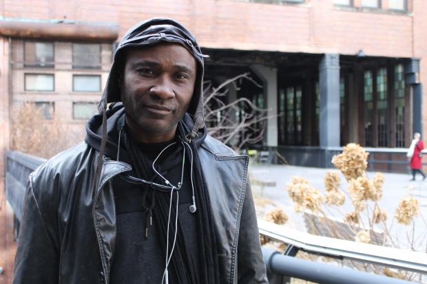 The artist, Iddi Amadu, said he was struck in the face with a walkie-talkie and left bleeding.