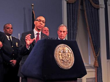 Schools Chancellor Dennis Walcott and Mayor Michael Bloomberg.