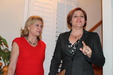 Quinn Courts Female Leaders in D.C.