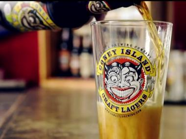 Coney Island Beer is brewed in Brooklym